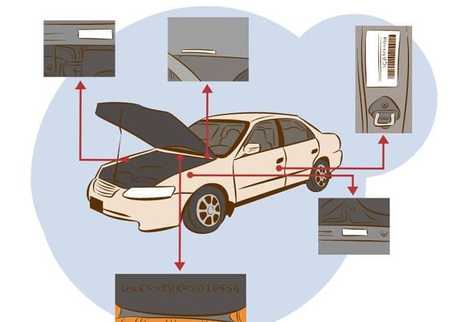 Где в автомобиле нанесен Вин-код?